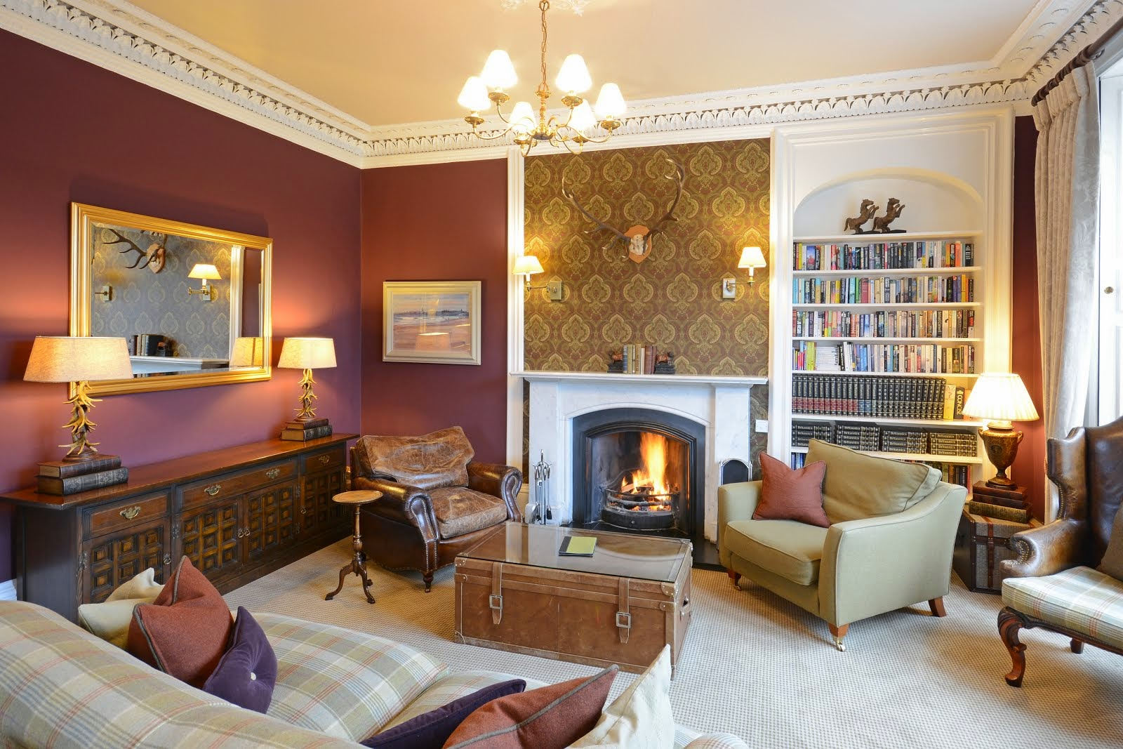 Log fires in the Lounge