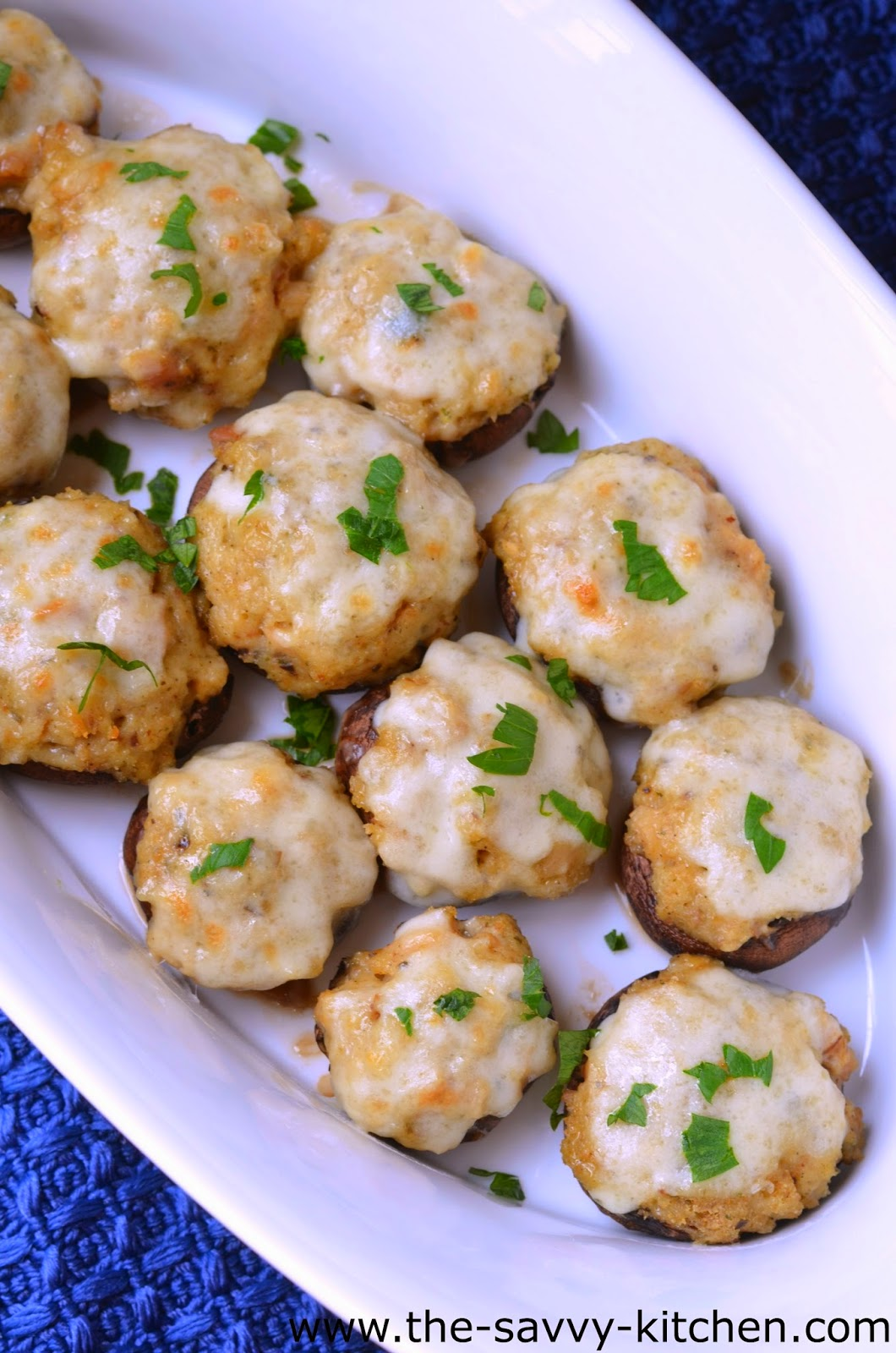 The Savvy Kitchen: Clam and Cheese Stuffed Mushrooms