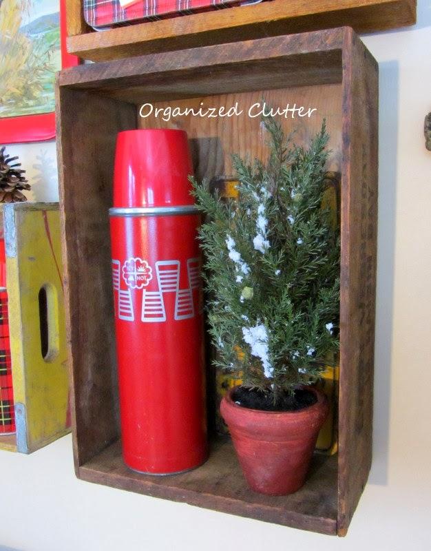 Rustic Christmas Junk Gallery Wall www.organizedclutterqueen.blogspot.com