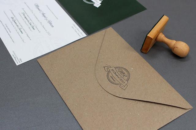sello personalizado invitaciones de boda originales hermanas bolena