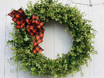 Fall Boxwood Wreath