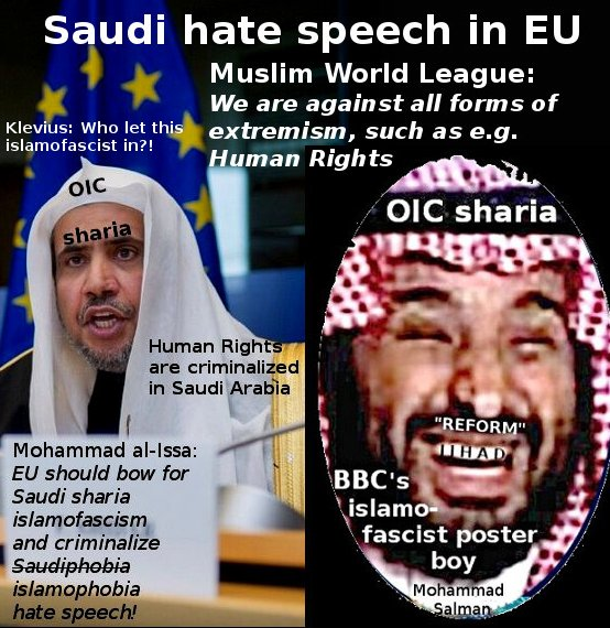 Saudi hate speech against Human Rights in EU