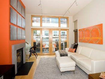 Desain Interior Rumah Minimalis Nuansa Jingga