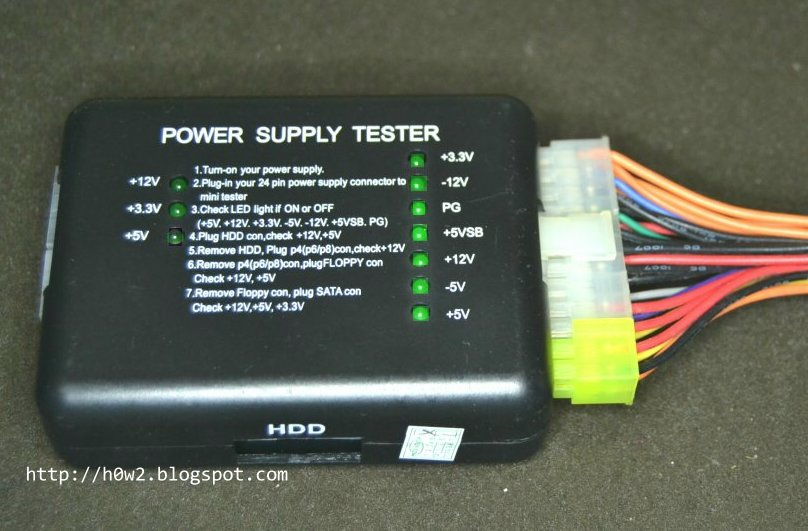 How to Check / Test Computer Power Supply (ATX) - How to, Computer ...