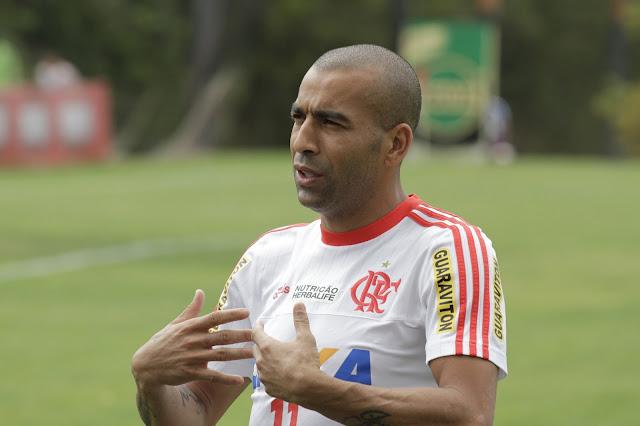 Sem Guerrero, que está a serviço da seleção peruana, Sheik comandará o ataque do Flamengo (foto: Gilvan de Souza/Flamengo)
