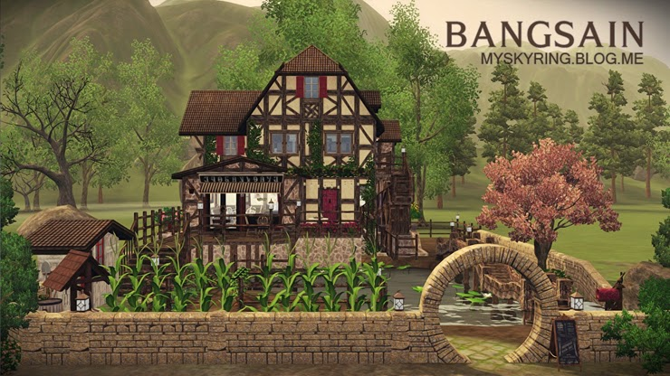 My sims 3 blog old mill bakery by bangsain for Classic house sims 3
