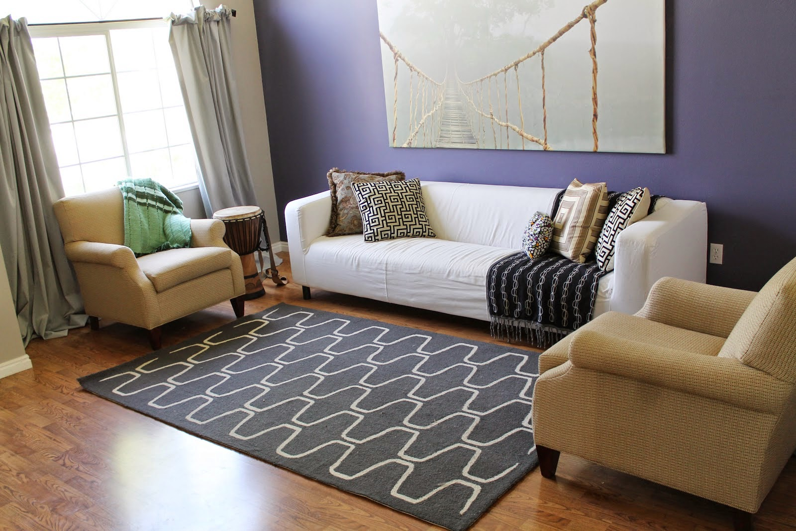 Grey Trellis Rug Ideas