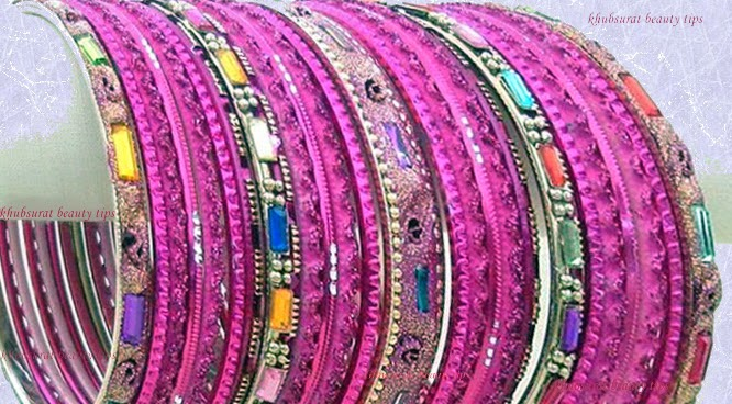 Pink bangles for Eid