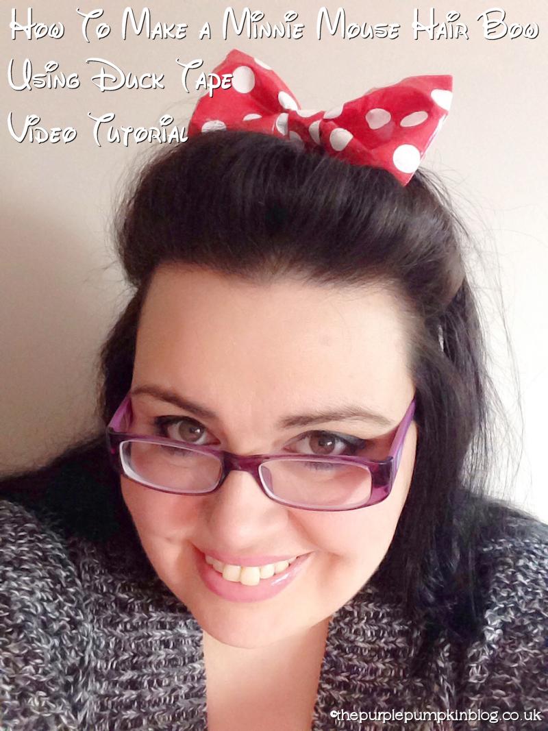 Make a Minnie Mouse Hair Bow using Duck Tape #100DaysOfDisney