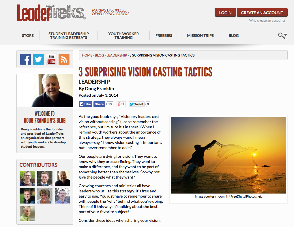 http://www.leadertreks.org/3-surprising-vision-casting-tactics/