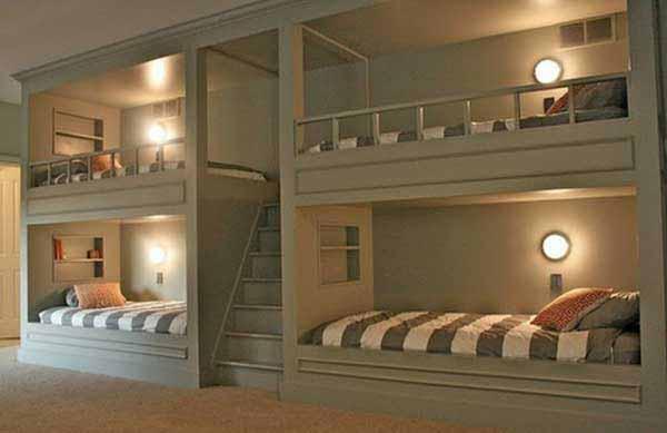 tempat tidur tingkat untuk kamar tidur anak laki laki dan