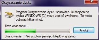 Program Windows Oczyszczanie Dysku