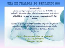 Tag Convite Cha De Bebe Texto Criativo
