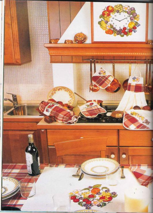 Grande raccolta di schemi e grafici per punto croce free schemi punto croce per la cucina d 39 estate - Disegni punto croce per tovaglie da tavola ...