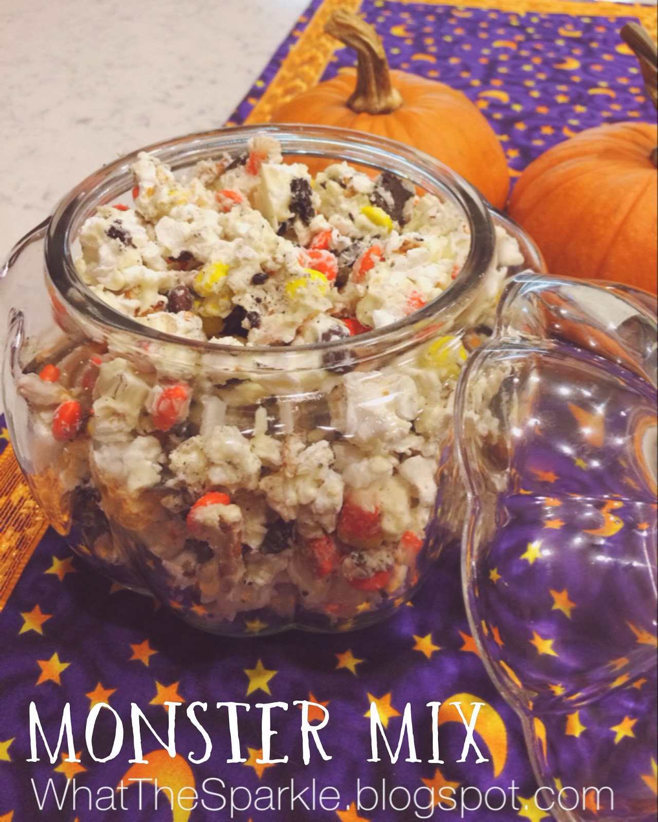 Kelly Moran | Entry Level Adulthood: Monster Mix - Halloween Snack ...