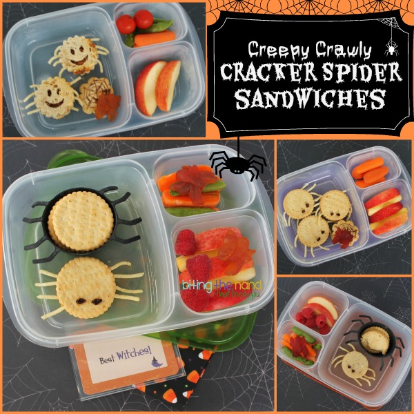 Creepy Crawly Cracker Sandwich Spiders for Halloween! - Biting the Hand That Feeds You