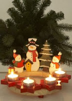 Père Noël et bougeoirs Bon Prix