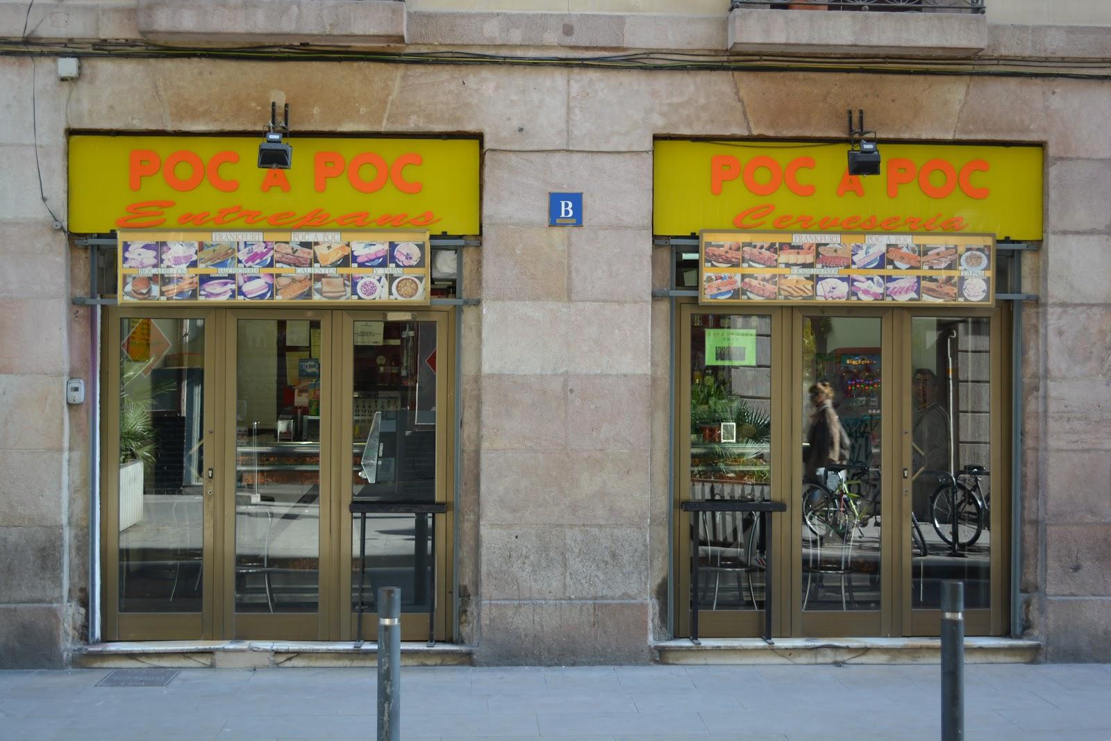 Tapas in the street at poc a poc barcelona bocatas de - Calle princesa barcelona ...