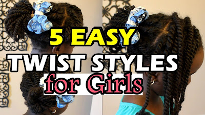 5 Quick and Easy Twists Hairstyles for Natural Hair Girls Back To School