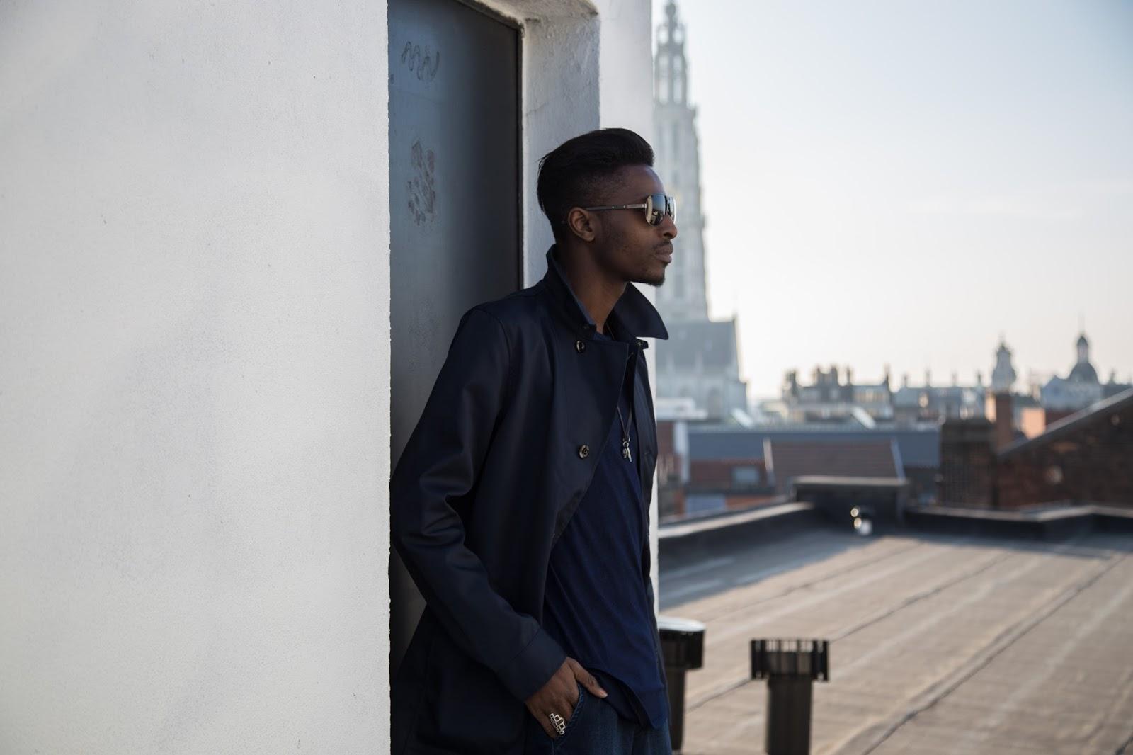 JONTHEGOLD rooftop blue g-star raw coat  salvatore ferragamo sunglasses bohemian vixen accessories