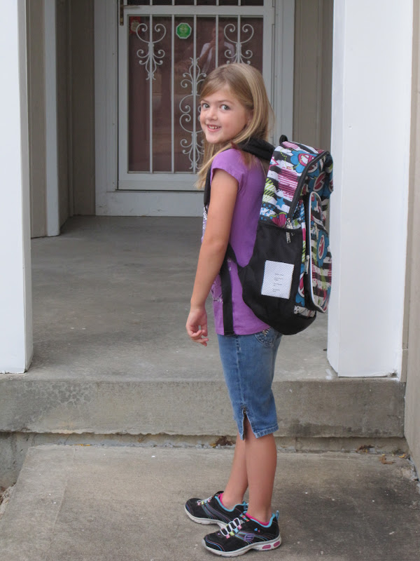 ... outfit for the first day of school (then changed her mind this morning