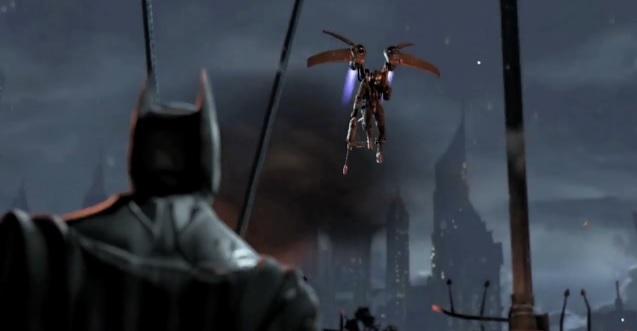 "Batman facing Firefly in the video game ""Batman: Arkham Origins"""