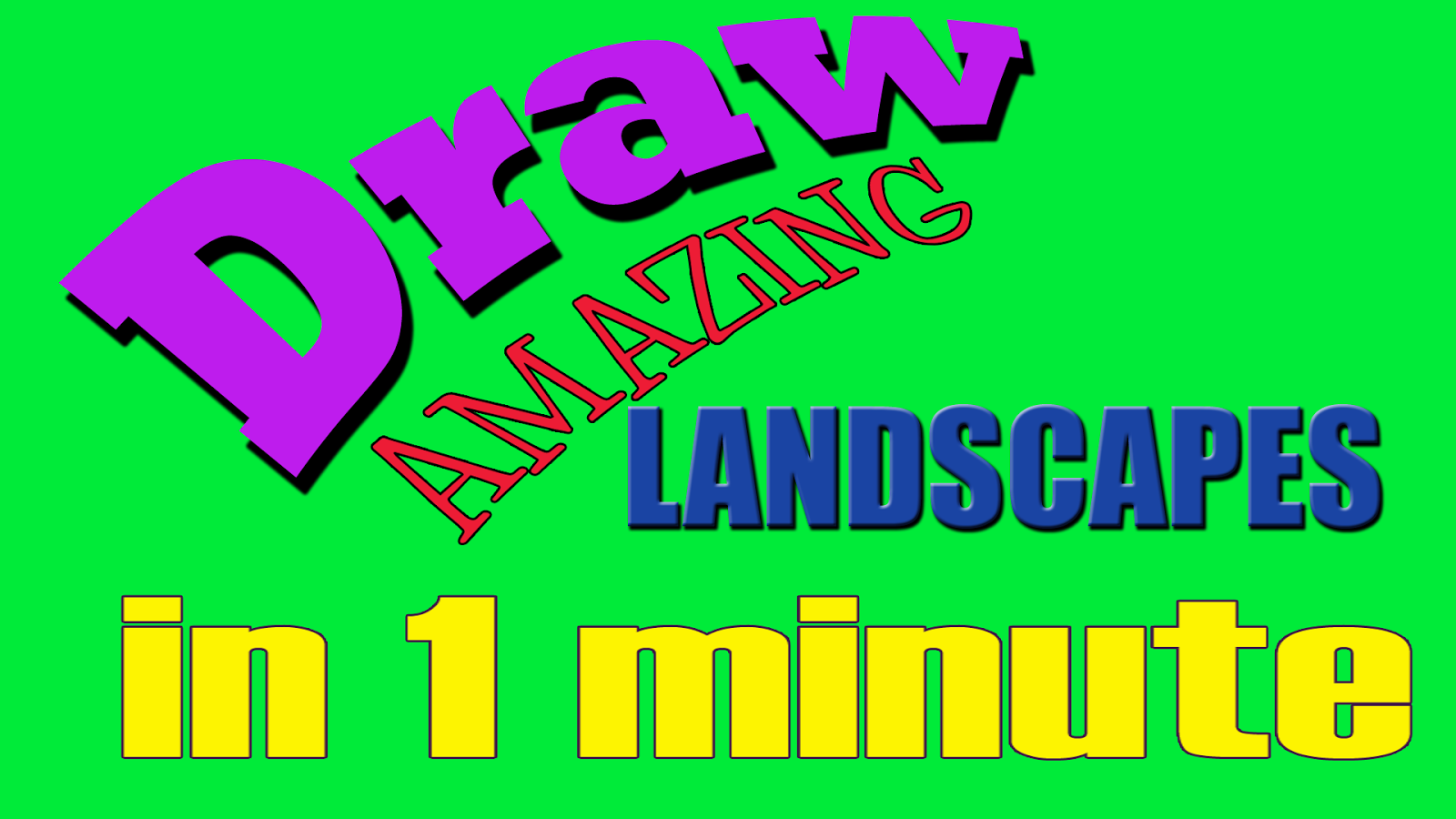 Drawing ideas for kids how to draw a landscape in less Simple drawing ideas for kids