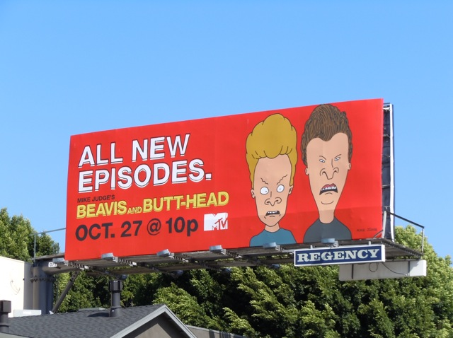 Beavis and Butt-Head MTV billboard