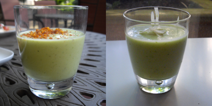 Chilled Avocado Soup Shots With Spicy Breadcrumbs Recipe — Dishmaps