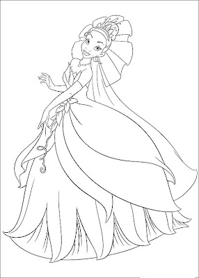 Desenho da Princesa Tiana para colorir