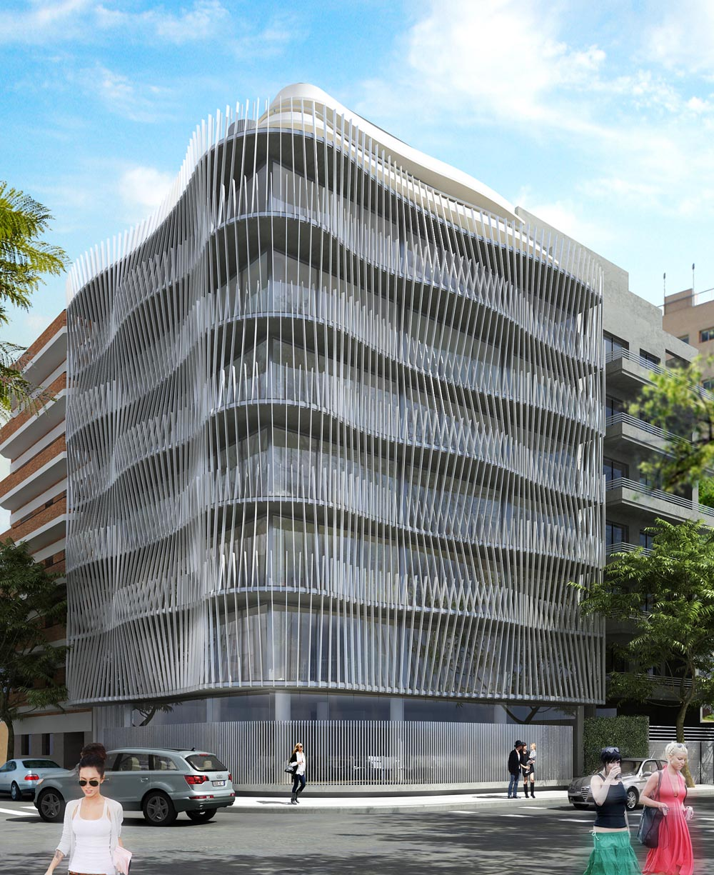Empresas el edificio de oficinas hit3 re ne tendencias de for Fachadas de edificios de oficinas