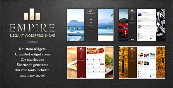 EMPIRE Wordpress Theme Free Download by ThemeForest.
