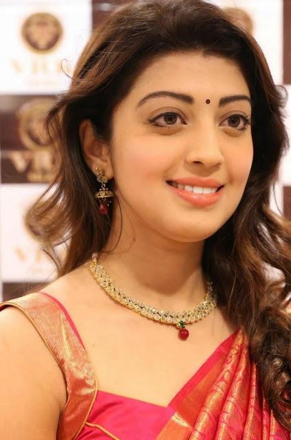 Pranitha in Silk Saree spicy stills