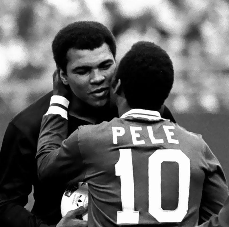 Pele and Muhammad Ali