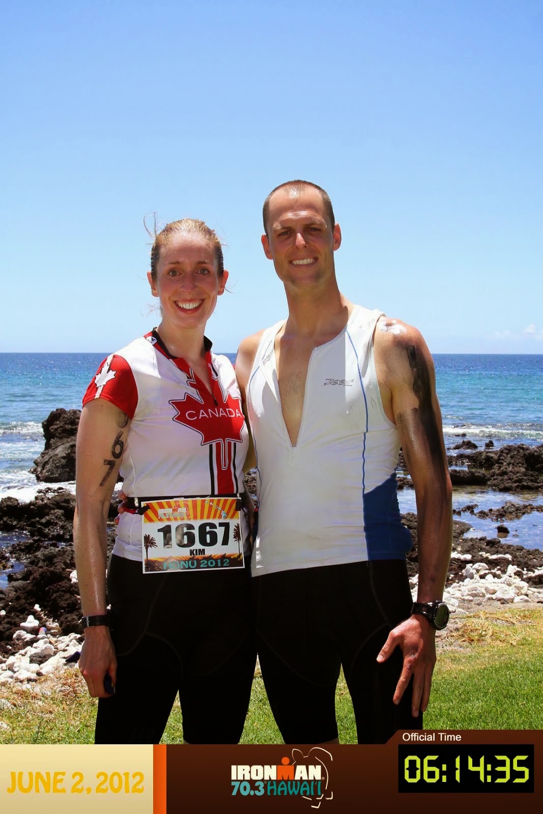 Then we did a HALF IRONMAN in HAWAII as redemption.