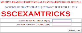 MP B.ED. RESULT 2015