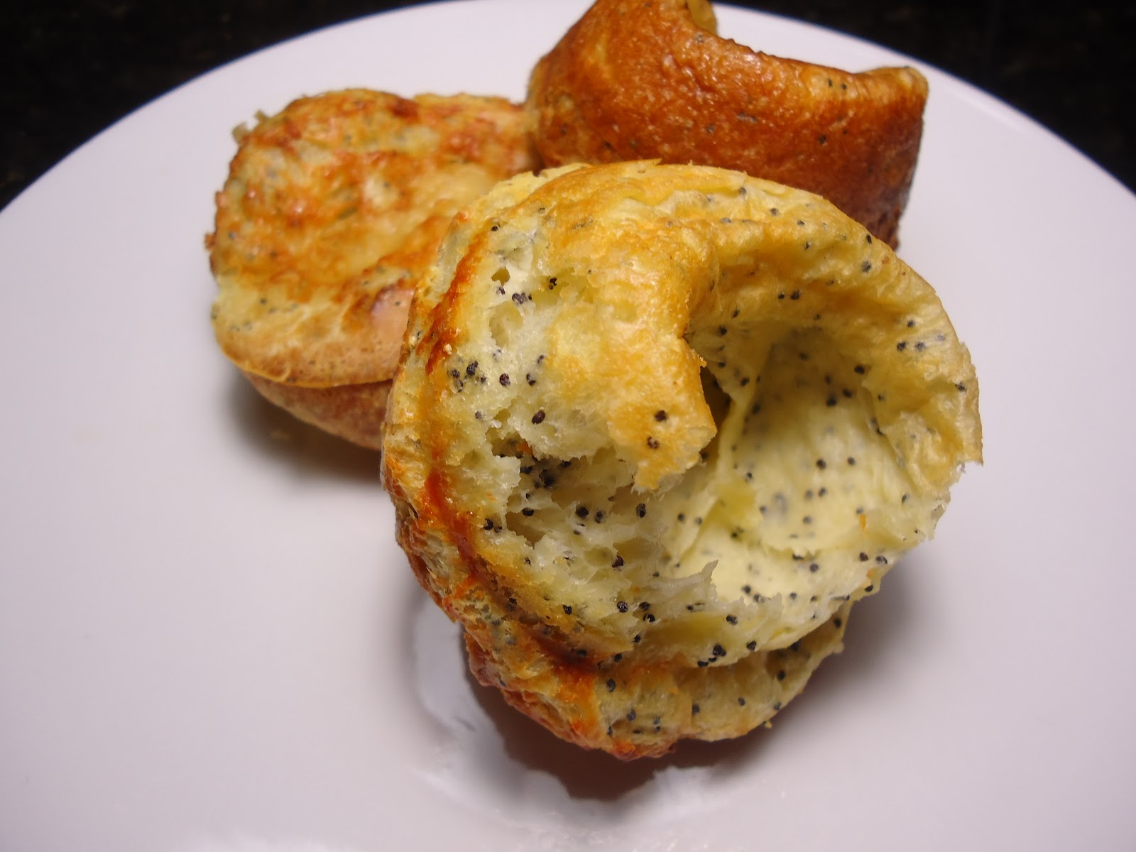 ... Hungry Teacher.....: Poppy Seed Popovers with Gruyere