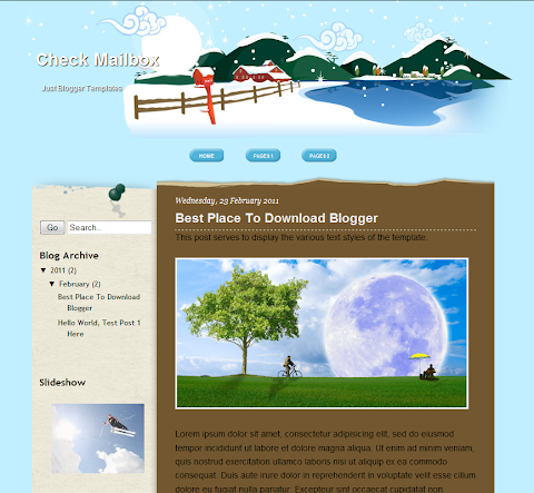 Check Mailbox Blogger Theme