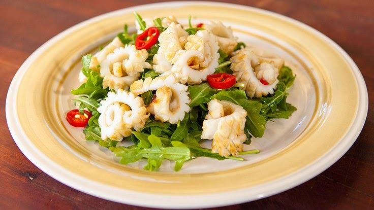 Ginger Squid Seafood #BBQ #Recipe