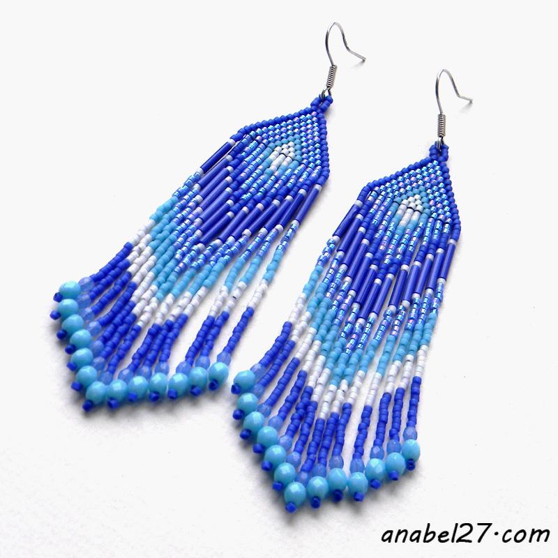 Длинные синие серьги - 229 / 365