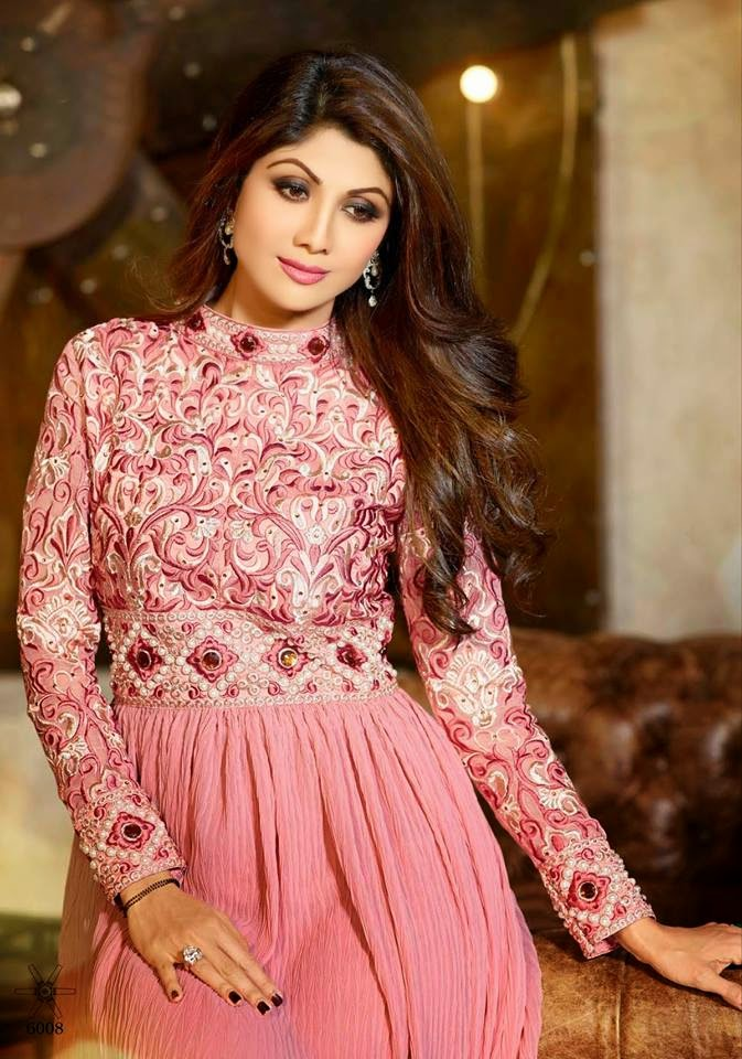 Latest Bridal And Party Wear Anarkali Frocks With Shilpa Shetty From ...