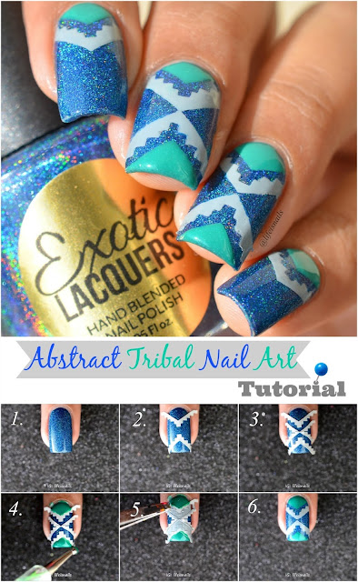 Abstract Tribal Nail Art Tutorial
