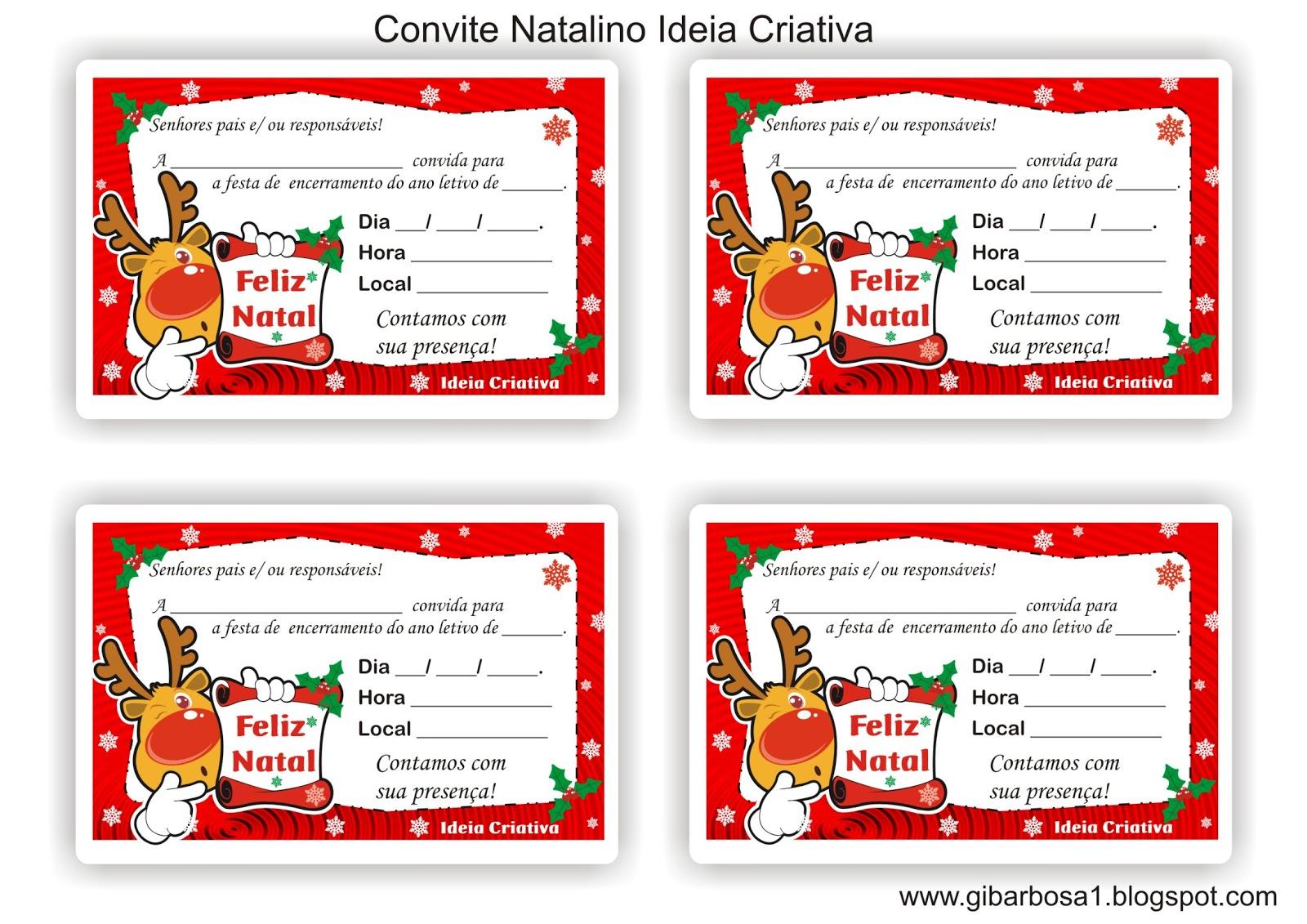 Preferência Convite Natalino | Ideia Criativa - Gi Barbosa Educação Infantil MC83