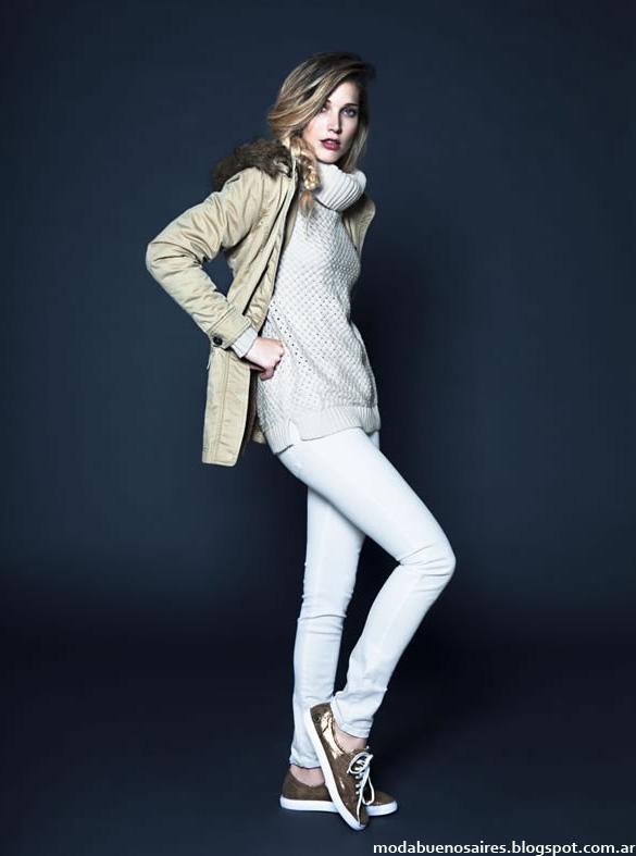 Moda invierno 2014 Kevingston Mujer Polerones y sacos tejidos