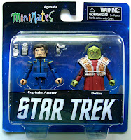 Diamond Select Star Trek Legacy Minimates - Captain Archer & Xindi Figures