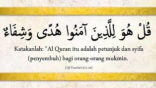 Al-Quran adalah Syifa' (Penyembuh)