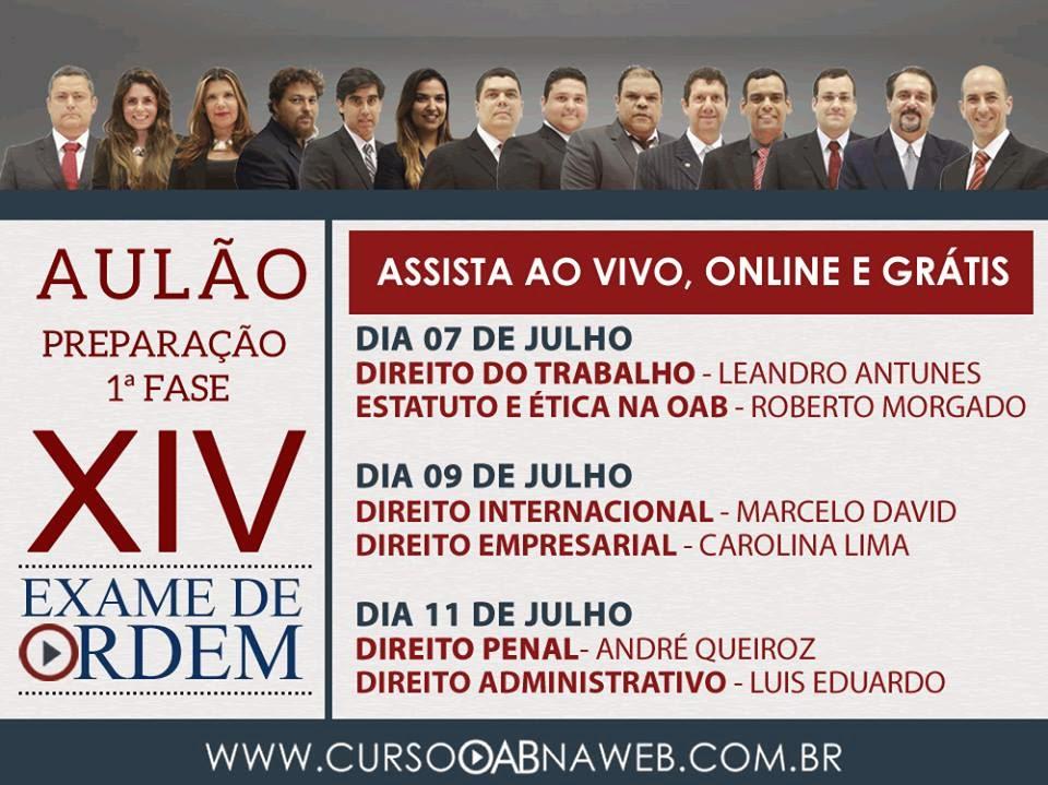 07/07/14 - AULÃO GRÁTIS