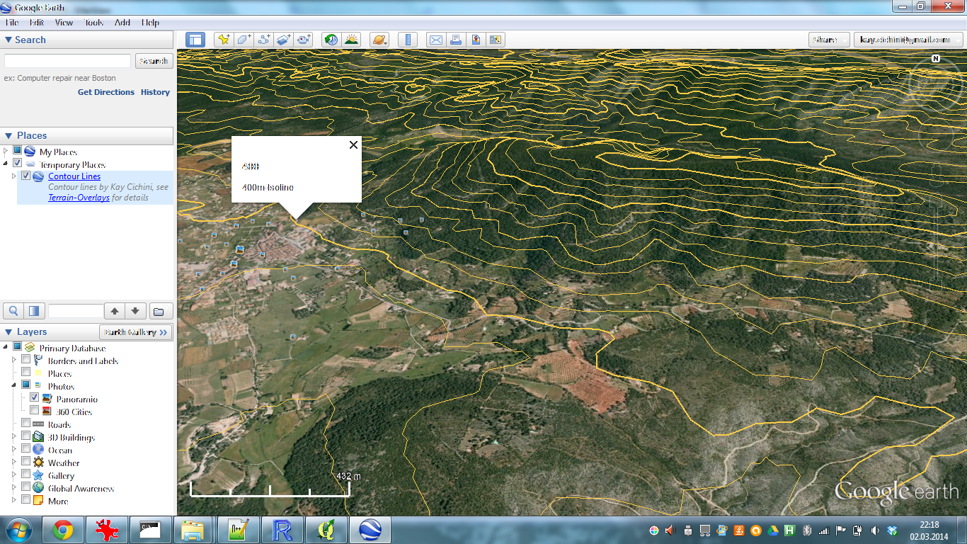 theBioBucket*: Use Case: Make Contour Lines for Google Earth with ...