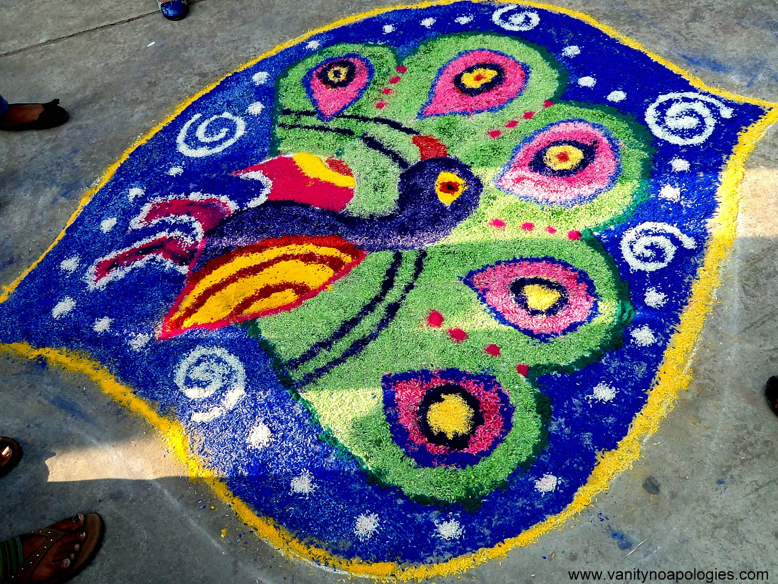 Top 4 Winning Rangoli Designs at my College and Happy Diwali for Rangoli Designs With Theme Go Green  45ifm