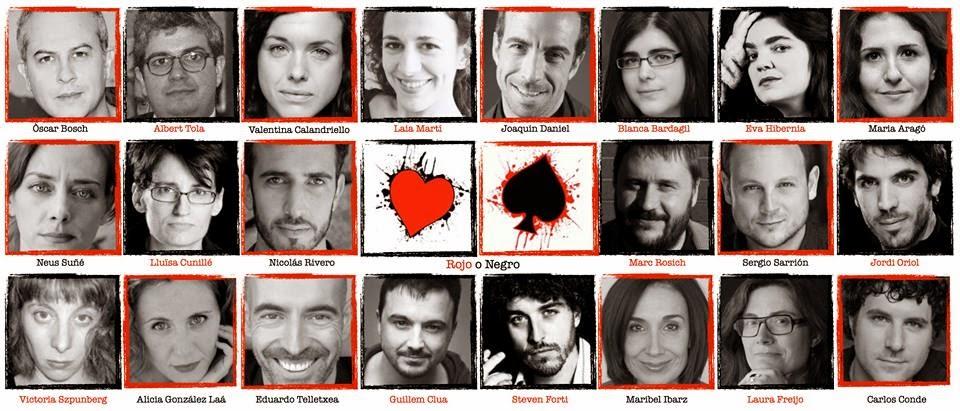 'Rojo o negro', doce piezas para diez actores y actrices ya en Barcelona